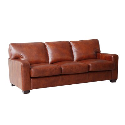 Hillcrest Brown Leather Sofa