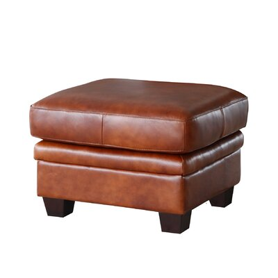 Hillcrest Rectangle Leather Ottoman