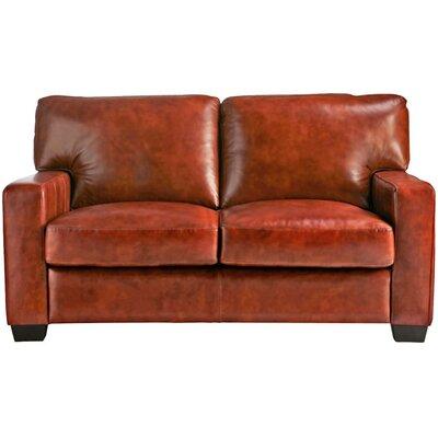 Hillcrest Vintage Leather Loveseat