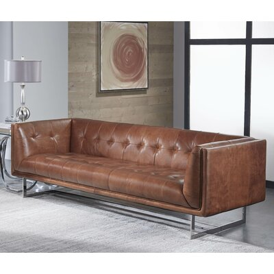 Gulielma Leather Chesterfield Sofa