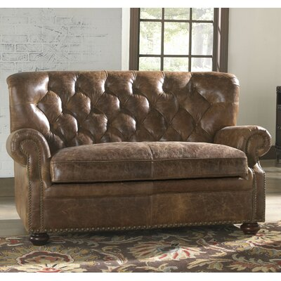 Louis Leather Loveseat