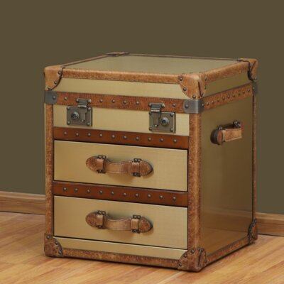 Hibernia 2 Drawer Flip Top End Table