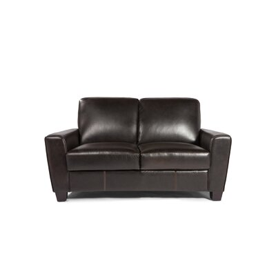 Logan Leather Loveseat