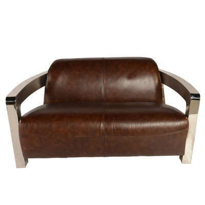 Halton Leather Loveseat
