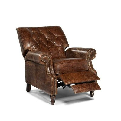 Philip Tufted Back Top Grain Leather Recliner Upholstery: Cocoa Brompton