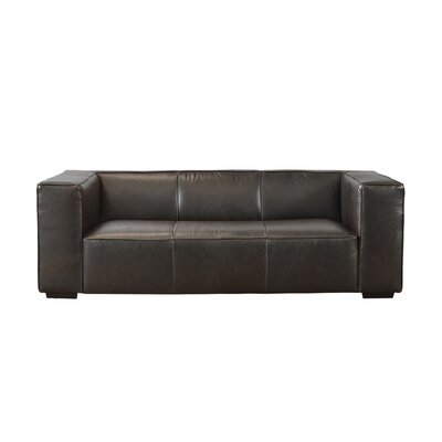 Denis Leather Sofa Upholstery: Mocha