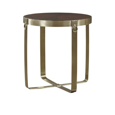 Kattan Round End Table Finish: Gold