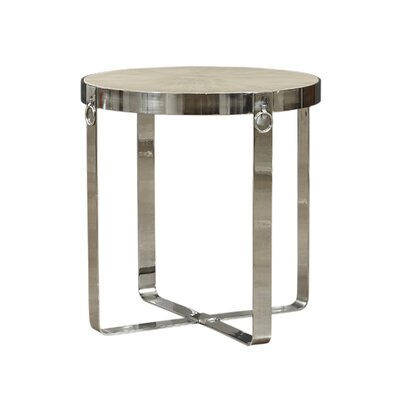 Kattan Round End Table Color: Silver
