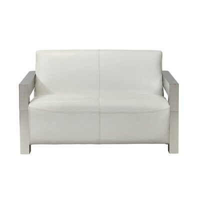 Elida Leather Loveseat