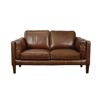 Shelli Leather Loveseat