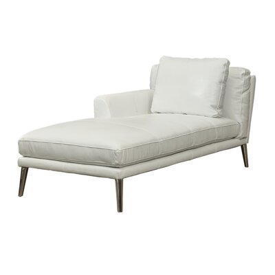 Woodrow Leather Chaise Lounge