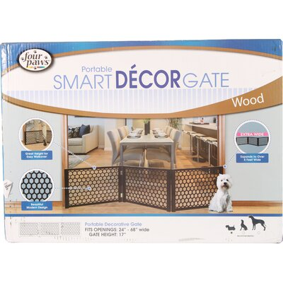 Decor Portable Wood Dog Gate