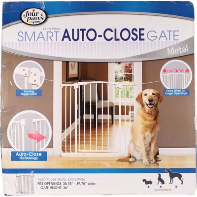 Extra Wide Auto Closing Metal Dog Gate