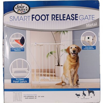 Foot Release Metal Dog Gate