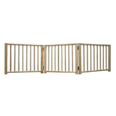 Freestanding Walk Over Pet Gate Size: 17.5 H x 24 x 64 W x 2.5 D, Style: 3 Panel