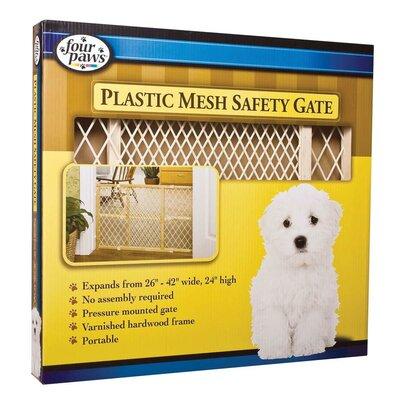 26-42 Plastic Mesh Wood Frame Gate