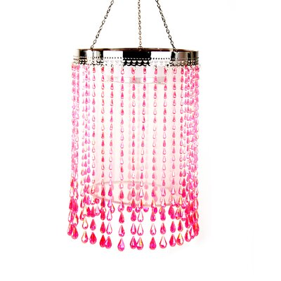 Anywhere Raindrop Crystal Chandelier Color: Pink