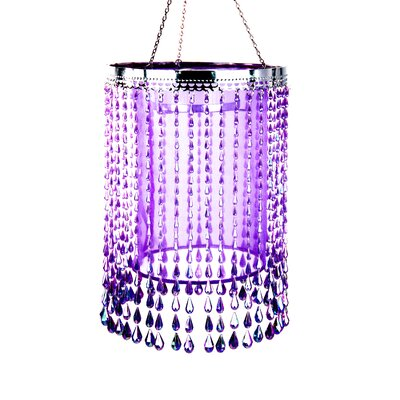 Anywhere Raindrop Crystal Chandelier Color: Purple
