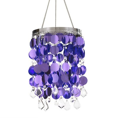 Avelines Shimmer 1-Light Mini Pendant Color: Purple