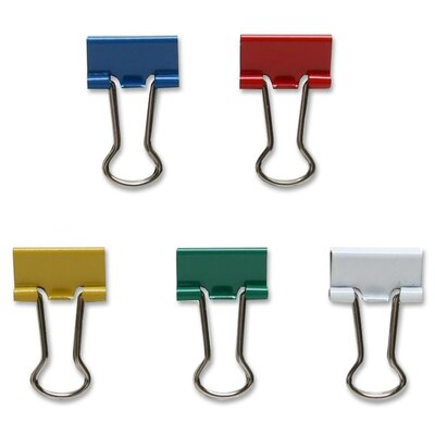 Binder Clip, Mini, 9/16Wide, 1/4 Capacity, 100/BX, Assorted