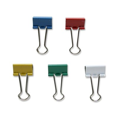 Binder Clip, Small, 3/4Wide, 3/8 Capacity, 36/BX, Assorted