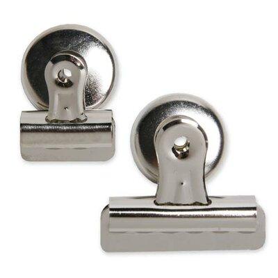 Bulldog Clip, Magnetic Back, Size 2, 2-1/4W, 1/2 Cap, SR