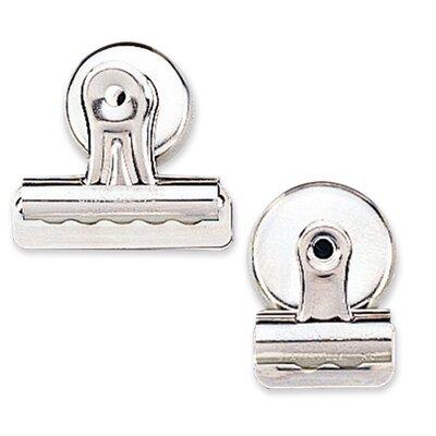 Bulldog Clip, Magnetic Back, Size 1, 1-1/4W, 3/8Cap, 18/BX, SR