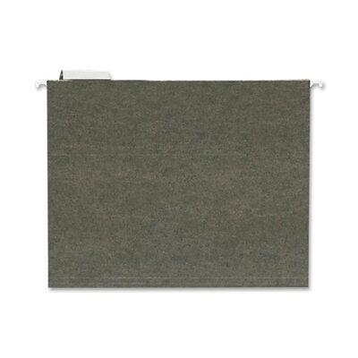Standard Hanging File Folder, Letter, 1/5 Tab Cut, Green, 25 per Box