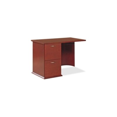 Lorell 9000 Series 29 H x 42 W Right Desk Return FInish: Mahogany