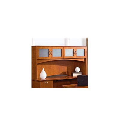 Lorell 9000 Series 16 H x 72 W Desk Hutch FInish: Cherry