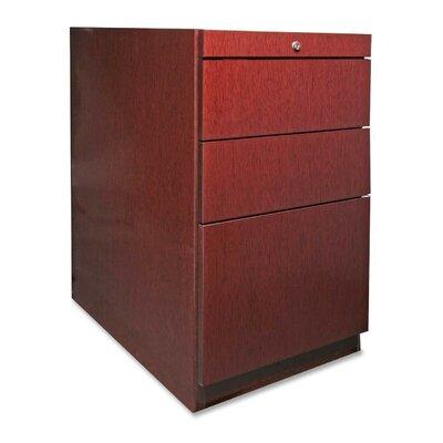 88000 Series File Pedestal, Box/Box/File, Mahogany