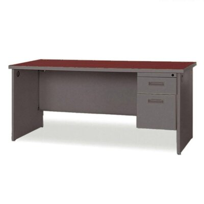 Durable Desk Ensembles Executive with 2 Left Drawers Laminate Top: Mahogany Product Photo 2919