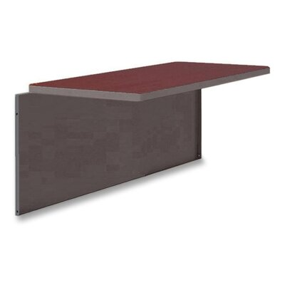42 W Desk Bridge Laminate Top: Mahogany