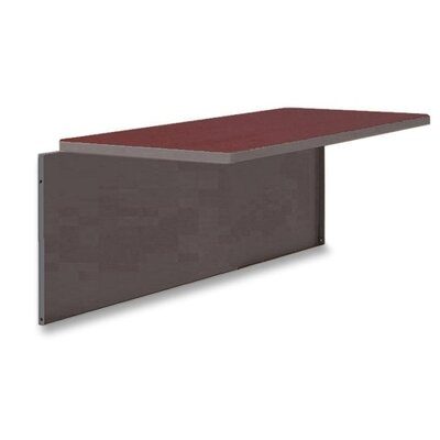 48 W Desk Bridge Laminate Top: Mahogany
