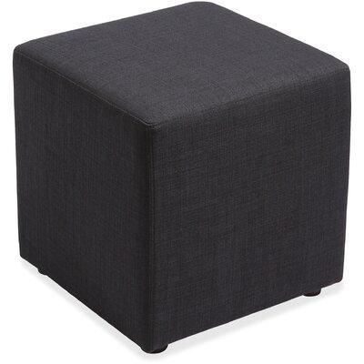Glider Cube Ottoman Upholstery: Black