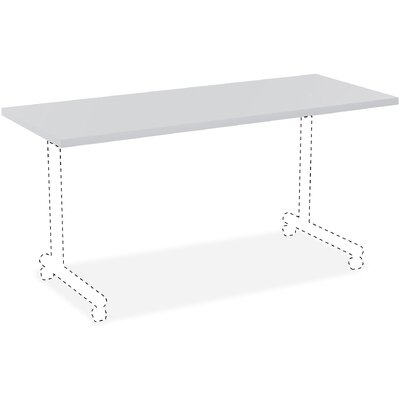 Invent Table Top Color: Light Gray, Size: 3 H x 62 W x 26 D