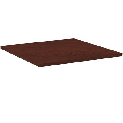 Hospitality Table Top Color: Mahogany, Size: 3 H x 44 W x 44 D