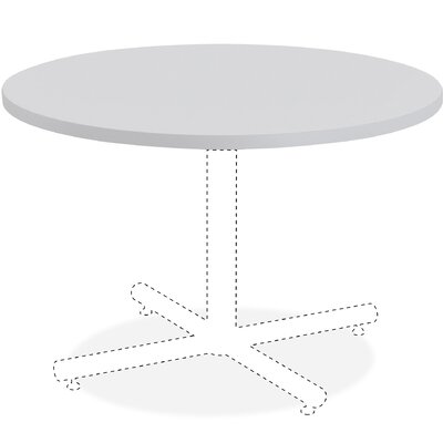 Invent Table Top Size: 3 H x 38 W x 38 D, Color: Light Gray
