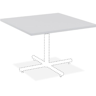 Hospitality Table Top Color: Light Gray, Size: 3 H x 44 W x 44 D