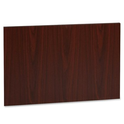 22.64 H x 32.48 W Desk Privacy Panel Finish: Mahogany