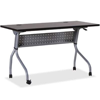 Flipper Training Table with Modesty Panel Finish: Brown, Size: 26.8 H x 50 W x 7.1 D