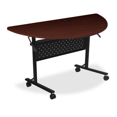 Flipper Training Table with Modesty Panel Size: 5 H x 29.5 W x 51.2 D, Finish: Silver