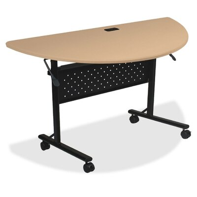 Ehmann Flipper Training Table with Wheels Tabletop Finish: Teak, Size: 30 H x 51 W x 4 D