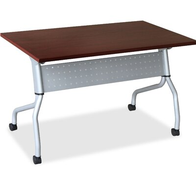 Flipper Training Table with Modesty Panel Finish: Mahogany, Size: 26.77 H x 50 W x 7.09 D