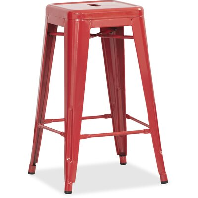 Metal 42.1 inch Bar Stool Finish: Red
