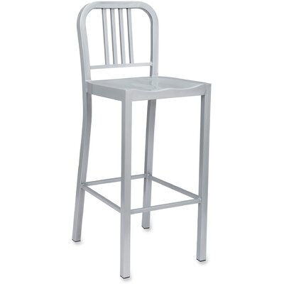 Bistro Bar Stool Upholstery: Silver