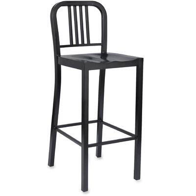 Bistro Bar Stool Upholstery: Black