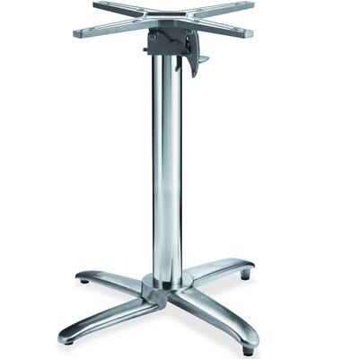 Foldable Round Hospitality Table Base Color: Chrome