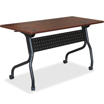 Flipper Training Table with Modesty Panel Finish: Cherry, Size: 26.8 H x 73.6 W x 7.1 D