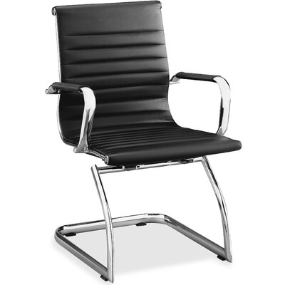 Modern Guest Chair Seat Color: Black